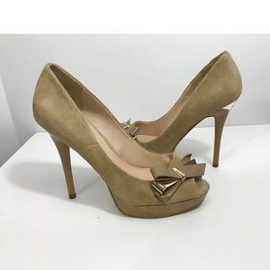Guess Open Toe Bow Pumps